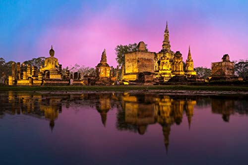 LOXZJYG Jigsaw Puzzle 1000 Piece Buddhist Temple in Bangkok Puzzles are A Fun Way to Enjoy Beautiful Artwork