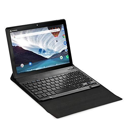 ACEPAD Tablet PC A140 v2021 (10,1 pulgadas) 4G LTE – Marca alemana – Android 10, 64 GB de memoria, FHD 1920 x 1200, 3 GB de RAM, Octa Core, WLAN/Bluetooth, USB-C/microSD (con teclado Bluetooth Flexi)