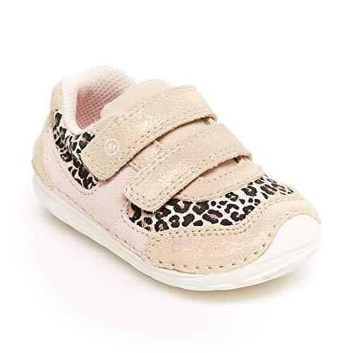 Stride Rite baby girls Soft Motion Mason Athletic Sneaker, Tan Leopard, 3 Infant US