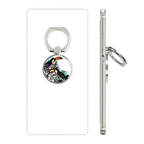 DIYthinker Inkt Schilderij Toco Tropische Vogel Telefoon Ring Stand Houder Beugel Universele Smartphones Ondersteuning Gift