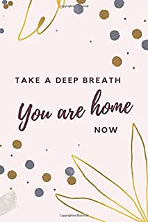 Take A Deep Breath You Are Home Now: 6x9 Blank Journal / Modern Gold Leaf Silver Dot Cover / Gift for New Couple / Newlyweds / Bride and Groom / ... Their Love Story / Cute Card Alternative
