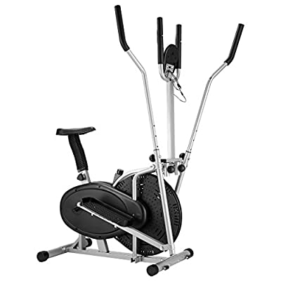 Finether Fitness Exercise Bike:Compact Exercise Fan Bike Air Bike with Heart Rate Sensor Display Monitor Adjustable Resistance Levels for Home Gym 120 kg Load Capacity by Finether