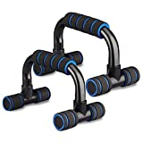 Xahpower Steel Push Up Bars - Strength Training Stands with Steel Grip Bar,Cushioned Foam Grip and Non-Slip Sturdy Structure Portable Push Up Handles for Men Women Floor Home Workout