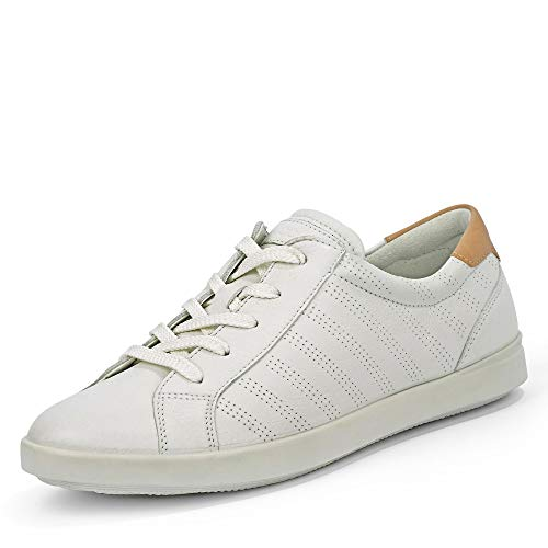 Ecco Damen LEISURE Sneaker, Weiß (White/Powder 59529), 39 EU