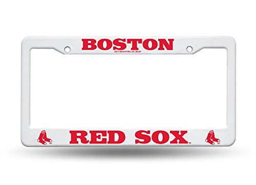 Boston Red Sox White License Plate Frame