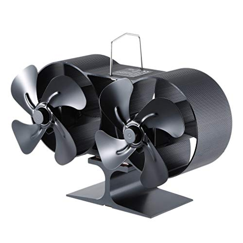 MIGVELA Heat Powered Stove Fireplace Fan for Home Wood Log Burning Fireplace Circulating Warm Air Saving Fuel Efficiently