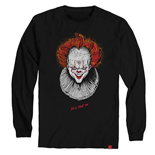 Camiseta Manga Longa Pennywise It A Coisa Camisa Ultra Skull XGG