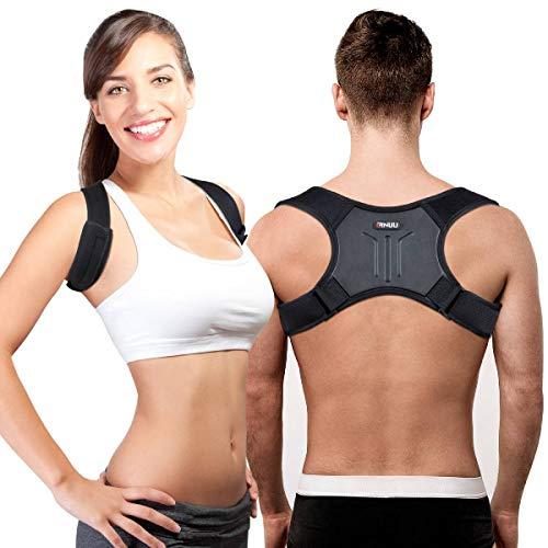 Geradehalter zur Haltungskorrektur Haltungstrainer Rückenstrecker mit verstellbarer Schlüsselbein Stütze, zur Therapie für haltungsbedingte Nacken, Rücken und Schulterschmerzen für Damen und Herren