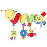 Pixnor Espiral actividades colgar juguetes del cochecito de bebé juguetes carro...