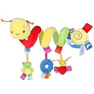 Pixnor Espiral actividades colgar juguetes del cochecito de bebé juguetes carro asiento cochecito juguete con campana de…