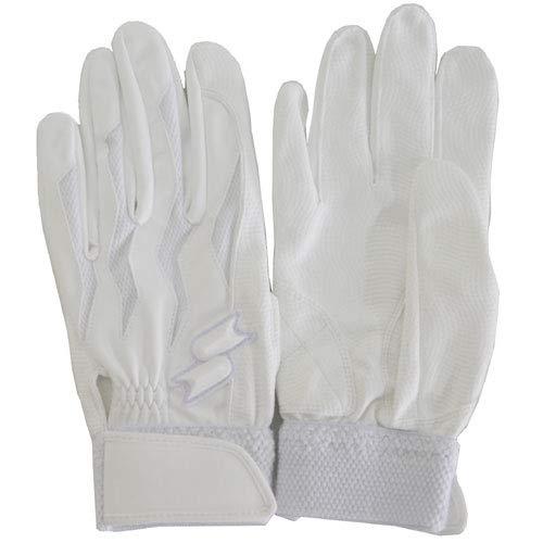 SSK(エスエスケー) 限定 両手用 バッティンググローブ 高校野球対応 BG3011WF (ホワイト(10), S(22-23cm))