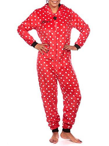 Disney Pijama Entera para Mujer Minnie Mouse Rojo Size Medium
