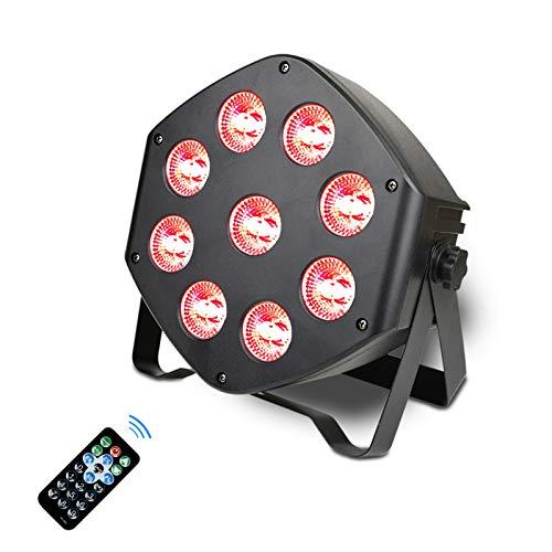 LED Par Lichter 9 LED DMX Strahler RGBW Disko Licht mit Wireless Fernbedienung 8 Modi Disco lichteffekte für KTV Disco Musik Party Show Bar