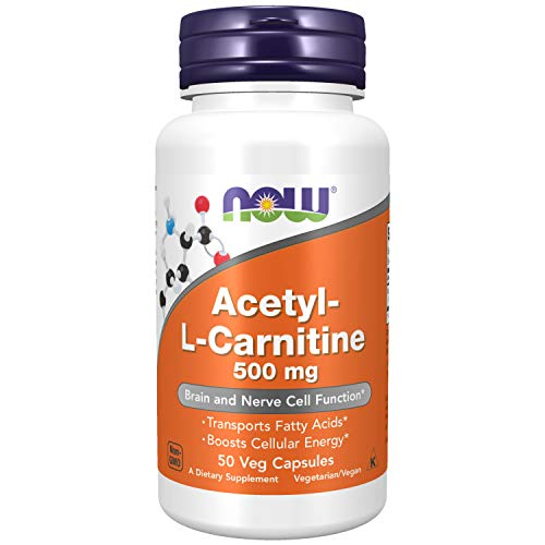 NOW Foods NOW Supplements, Acetyl-L Carnitine 500 mg, Amino Acid, 50 Veg Capsules