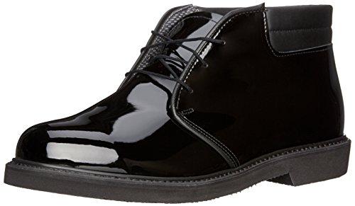 Bates Men's Lites High Gloss Padded Collar Chukka, Black, 12 D US