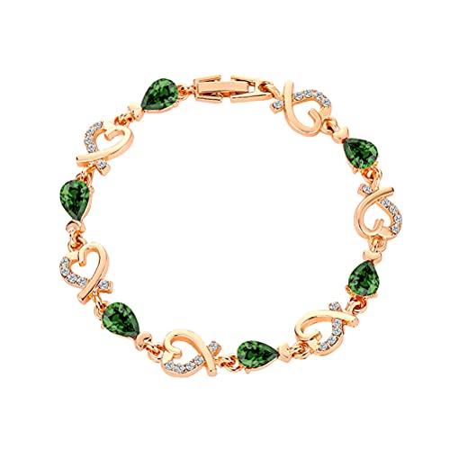 1 x verstellbares Armband aus Goldlegierung, Strass-Armband, herzförmiger Armreif, ausgehöhltes Herz, Wickelarmband, geeignet für Frauen und Mädchen.