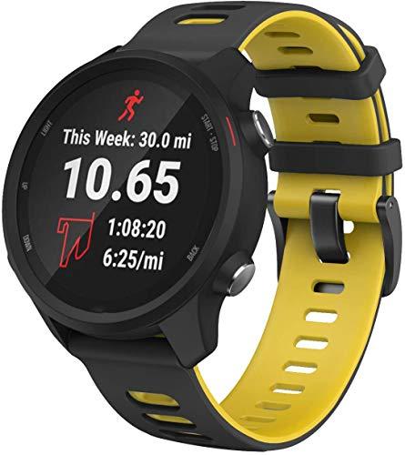Gransho Correa de Reloj Recambios Correa Relojes Caucho Compatible con Polar Vantage M - Silicona Correa Reloj con Hebilla (22mm, Pattern 8)