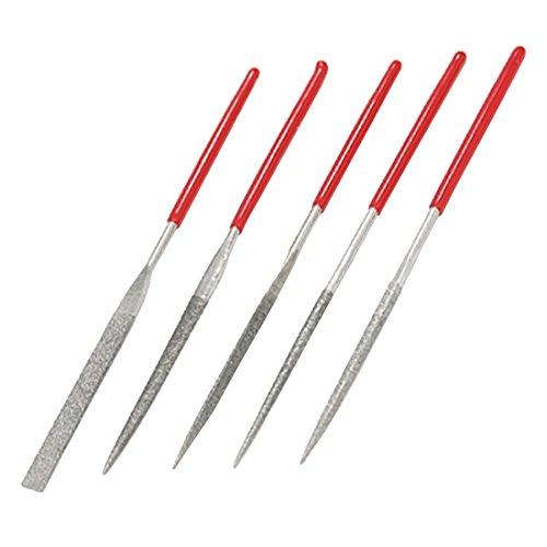 conjunto de limas de diamante que incluye lima plana cuadrada Juego de limas de aguja de 10 piezas redonda y media ca/ña para tallar artesan/ías triangular