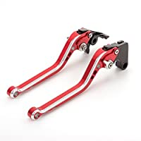 FXCNC Racing Billet Adjustable Motorcycle Colorful Long Brake Clutch Levers set Pair Compatible with Aprilia RSV4 FACTORY/RSV4-R/RR 2009-2020,TUONO V4 1100RR/Factory 2017-2020