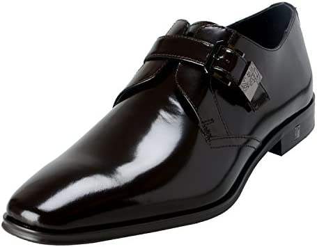 Versace Collection Men s Brown Polished Leather Loafers Shoes US 7 IT 40 product image
