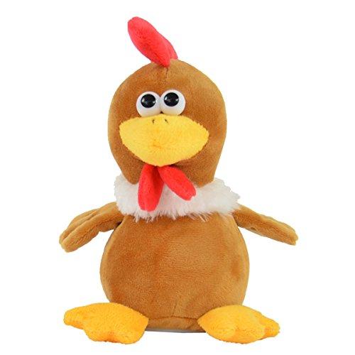 Kögler 75692 - Laber Huhn Helga, Labertier mit Aufnahme- und Wiedergabefunktion, plappert alles witzig nach und bewegt sich, ca. 19,5 cm groß, ideal als Geschenk für Jungen und Mädchen