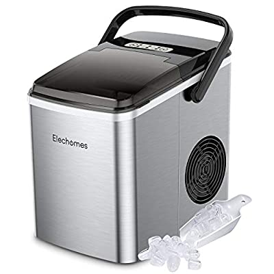 Amazon - Save 30%: Elechomes Portable Ice Maker with Handle, Countertop Ice Maker Ma…