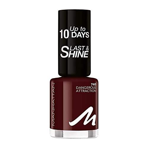 Manhattan Last und Shine Nagellack, Nr.740 Dangerous Attraction, 1er Pack (1 X 10 ml)