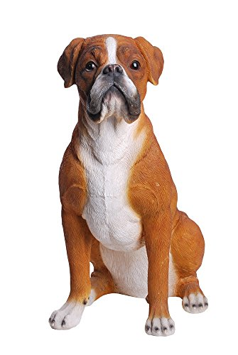 Hi-Line Gift Ltd Sitting Boxer Dog Statue