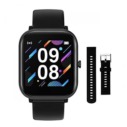 HYK adatto per telefoni IOS Android, orologi intelligenti uomini e donne Bluetooth impermeabile cardiofrequenzimetro fitness tracker orologi sportivi (D)
