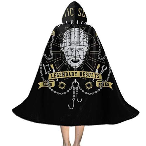 KUKHKU Hellraiser Kosmetik-Chirurgie Unisex Kinder Kapuzenumhang Umhang Umhang Cape Halloween Party Dekoration Rolle Cosplay Kostüme Outwear