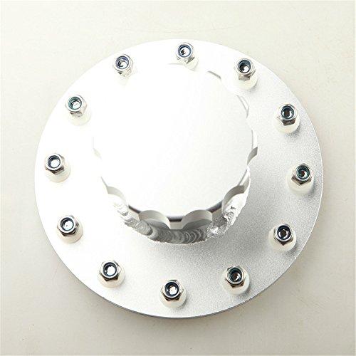 Billet Fuel Cell Fast Fill Filler Neck 12 Bolt Flange Aluminum Alloy Silver