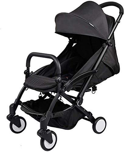 Dpliu Baby-Kinderwagen, bequemer Kinderwagen, Aluminiumrahmen, große Sitzfläche, großer Aufbewahrungskorb B+1
