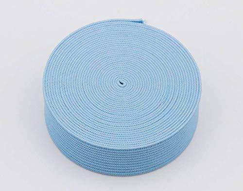 18 mm breed, 3 meter lang, elastisch lint voor naaien en knutselen - Spoel van elastische platte band voor kleding - Rekbaar koord voor rokken en broeksband-Lichtblauw-3Meter-2cm