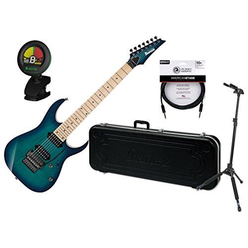 Ibanez RG752AHMNGB RG Prestige Nebula Green Burst 7-String Electric Guitar w/Ca