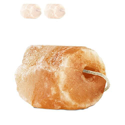 """Hochwertiger Salzleckstein """"Himalaya"""" 2 x Leckstein mit Kordel, insgesamt ca. 6 kg, für Pferde, Schafe, Rinder, Wild, Viehsalz - Mineralleckstein - Premium Leckstein"""