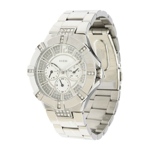 GUESS U12601L1 Dazzling Sport Watch - Silver-tone Steel: Watches