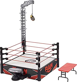 WWE Wrekkin Kickout Ring Playset 13-in  33.02-cm  x 20-in  50.8-cm  & 2 Modes  Randomized Ref & Springboard Launcher Includes Crane WWE Championship & Breakaway Table Gift for Ages 6 Years Old & Up