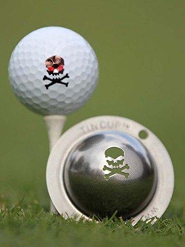 Tin Cup Jolly Roger Golf Ball Custom Marker Alignment Tool