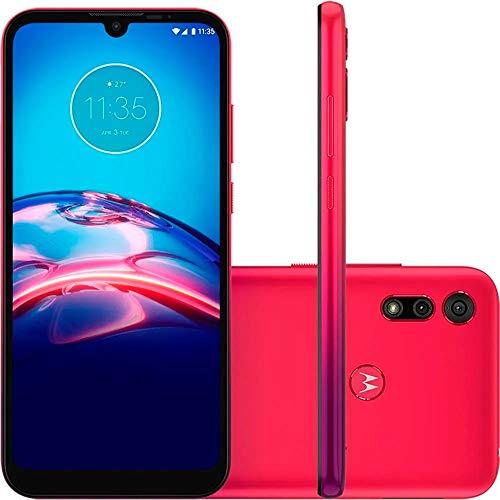 Smartphone Motorola E6S 32GB - Vermelho Magenta