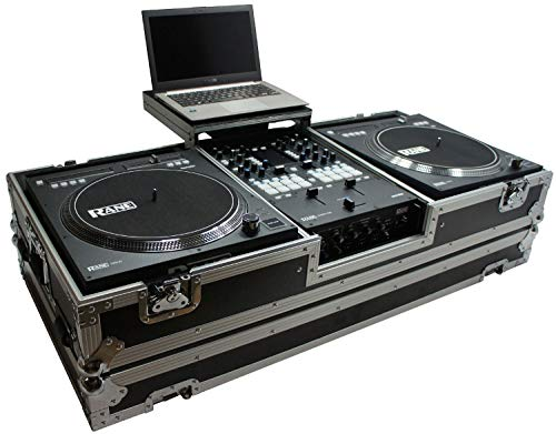 Harmony HC2T1272WLT DJ Battle Coffin Compatible with (2) Rane 12 Turntables & Rane 72 Mixer