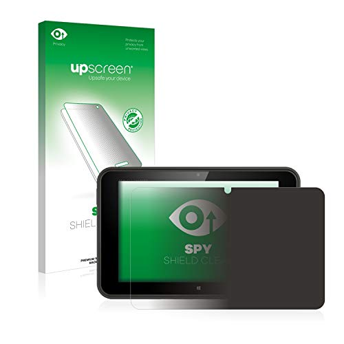 upscreen Spy Shield Clear Privacy Screen Protector for HP Pro Tablet 10 EE G1 (privacy protection (self-adhesive), view protection starts at a 30° angle)