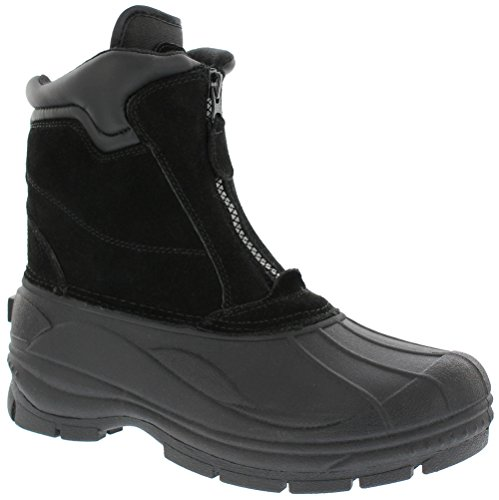 Khombu mens Comfort Snow Boot, Black, 11 US