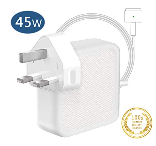 Compatible With MacBook Air Charger,45W Magsafe 2 Magnetic T-Tip Power Adaper Charger, Replacement With MacBook Air 11-inch 13-inch - Mid 2012, 2013, 2014, 2015, 2017 2018 Models A1465 A1466
