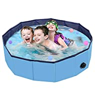 PVC Pet Foldable Swimming Pool Dogs Cats Bathing Tub Portable Bathtub Collapsible Water Pond Pool & Kiddie Pools for Kids Pet Spa Whelping Box Kiddies Pets to Swim and Bath in Outdoor(80*20cm)