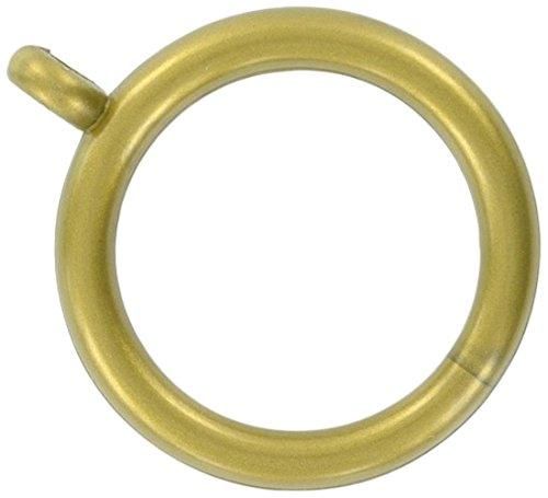 Merriway BH03231 kunststof gordijnroede ringen met vast oog, binnendiameter 25 mm (1 inch) buitendiameter 32 mm (1,1/4 inch) - messing, 8 stuks