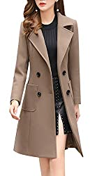 beige pea coat clothing successful woman