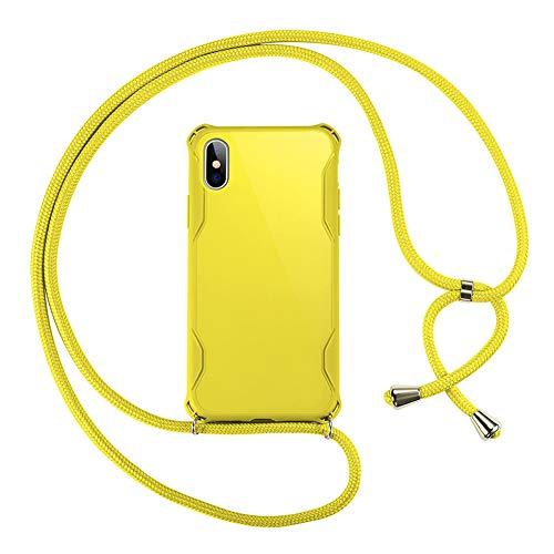 Case Crossbody voor Iphone 11 / SE 2020 / SE 2 met Afneembare Verstelbare Riem Nieuwe 2-in-1 Ontwerpen Modeketen Handige Lanyard-Telefoonhoes,Yellow,SE 2