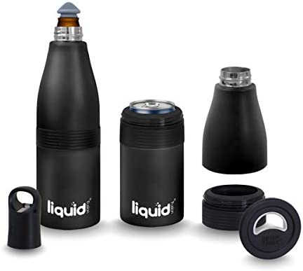 Grand Fusion Insulated Stainless Steel Vacuum Sealed Beer 2 Go Bottle Can and Water Cozy and product image