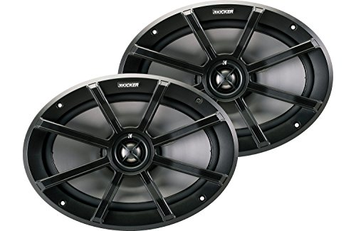 Kicker 40PS694 PS Series 6 x 9 Inch 180 Watt Max 4 Ohm Coaxial 2-Way Water Resistant Marine Speakers, Pair