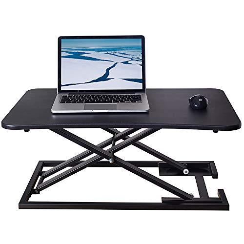 MNNE Stand-up-Desktop Converter 73 × 47cm Perfekt Einstellbare Höhe Home/Office-Computer-Arbeitsplatz geeignet für Laptops und Computer-Monitore Black